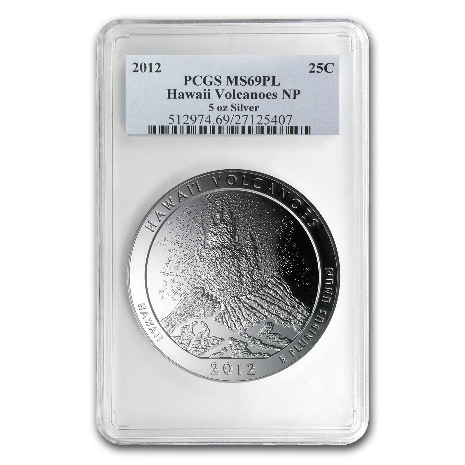2012 5 oz Silver ATB Hawaii MS-69 PL PCGS